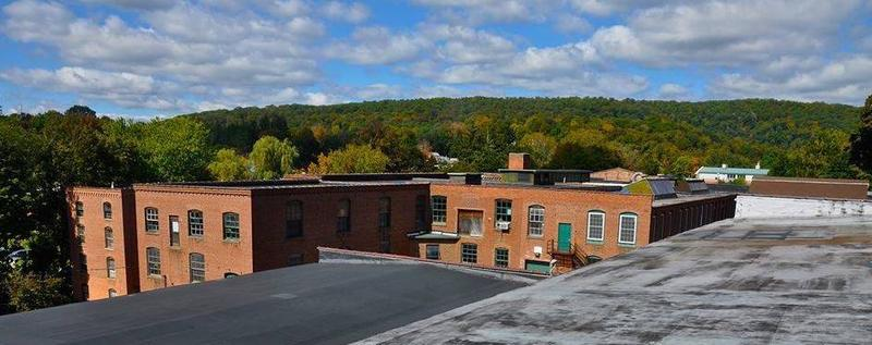 The mill building in Winsted, Connecticut, that will house the American Mural Project.