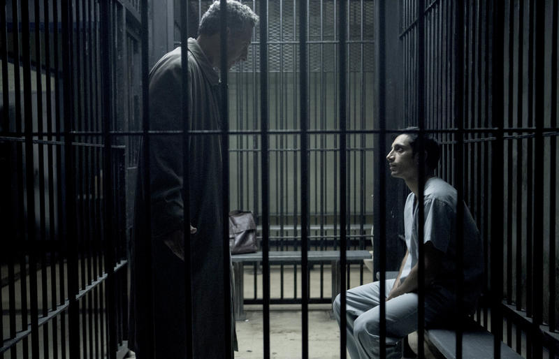 "John Turturro, left, and Riz Ahmed in ""The Night Of"""
