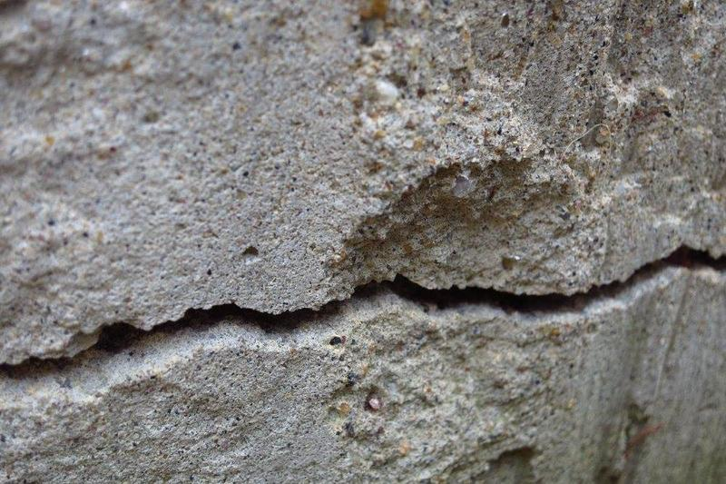 Jim Williams's cracked basement wall in Tolland, Connecticut.