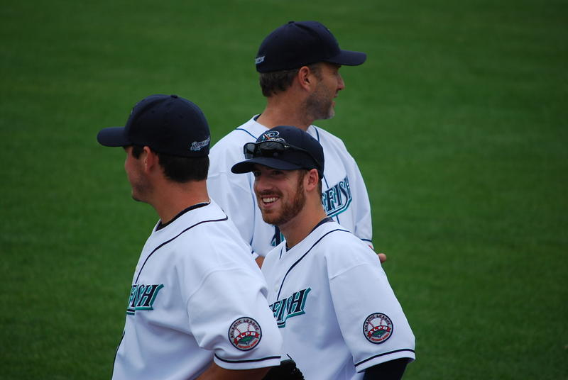 Matt Iannazzo (with sunglasses) during the 2014 season.