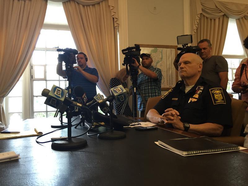 Hartford Police Chief James Rovella at a recent press conference at city hall.
