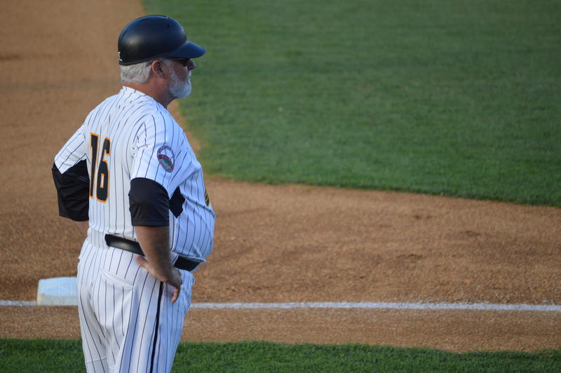Stan Cliburn during his 1,599th managerial win last Wednesday. He would get number 1,600 the next night.