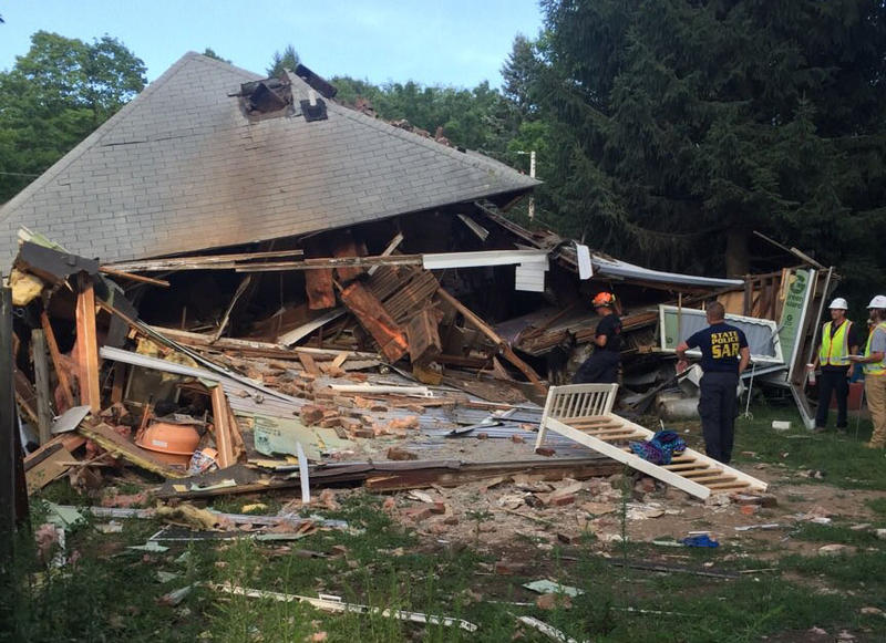House in Vernon that collapsed Thursday afternoon.