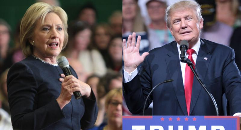 Hillary Clinton and Donald Trump debate for the first time at Hofstra University.