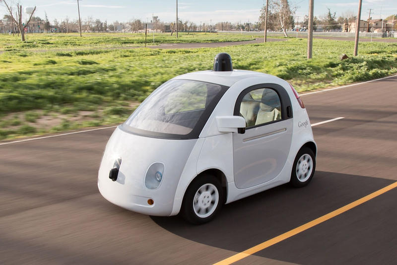 A Google prototype for a self-driving car.