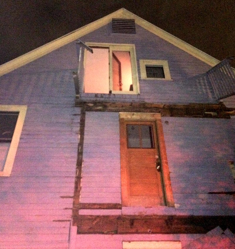 A crowded third floor deck collapsed, causing the second floor deck also to collapse.