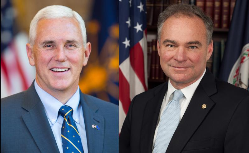 Republican Mike Pence, left, and Democrat Tim Kaine.