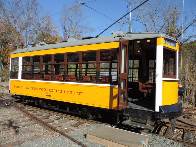 Trolley car at Shore Line Trolley Museum.