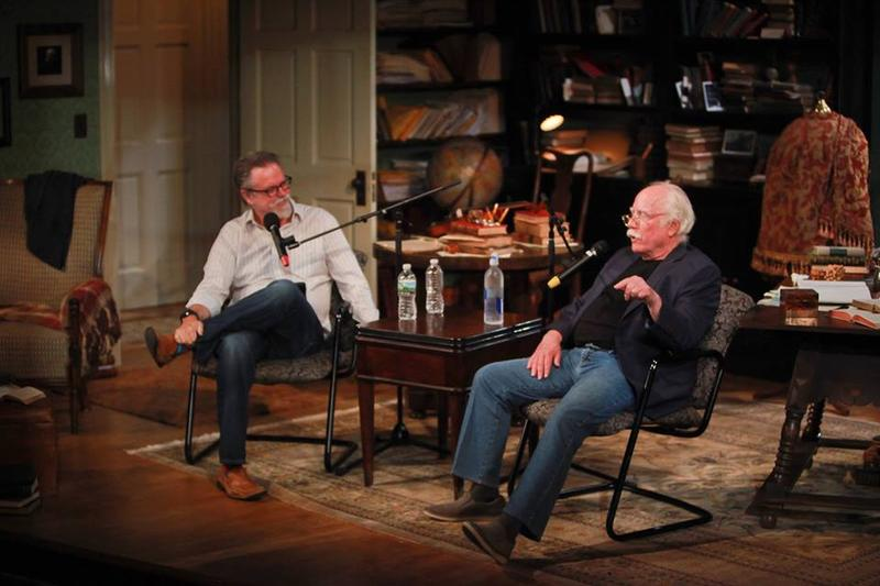 Colin McEnroe and Richard Dreyfuss on stage at TheaterWorks in Hartford