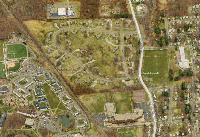 An aerial view of Bowles Park.