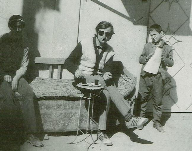 Roman Nowak at age 25 at an outdoor cafe in Mosul, Iraq, 1971