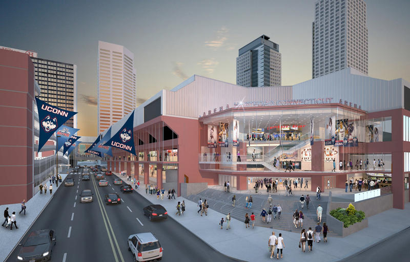 Proposed rendering of XL Center renovations.