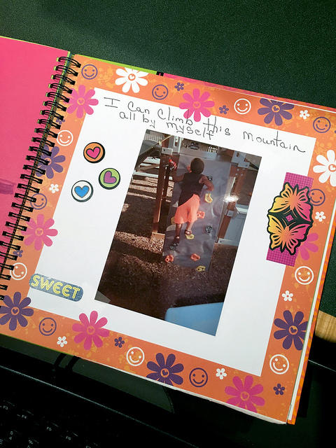 Children created scrapbooks for CCADV's most recent report.