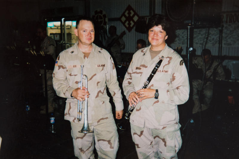Pete Roe and Melinda Burnham were deployed to Iraq in 2004.