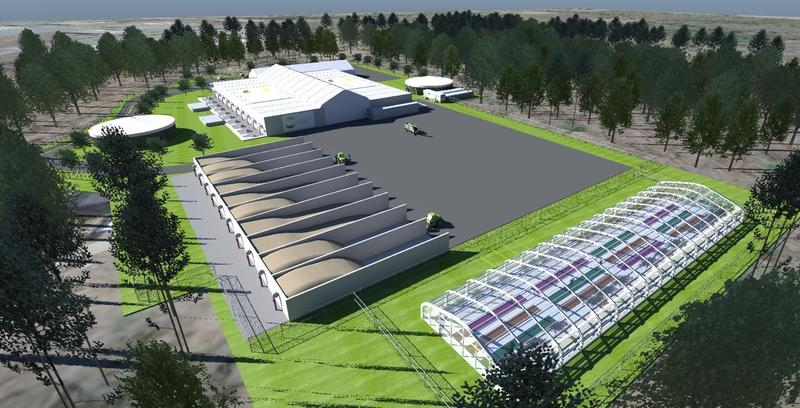 A rendering of the proposed food-to-energy plant. The facility, which just got state approval to begin building, will be located off I-84 in Southington, Conn.