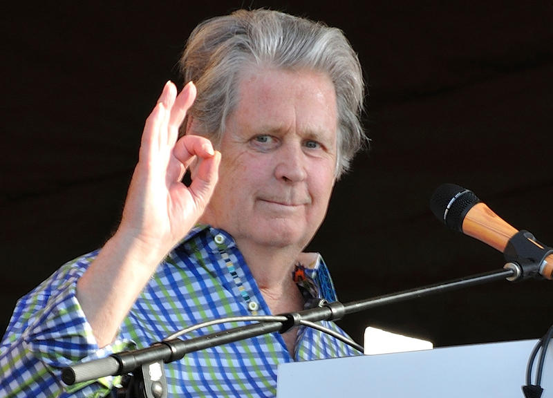 Brian Wilson performing with the Beach Boys during their brief 2012 reunion at the New Orleans Jazz & Heritage Festival.