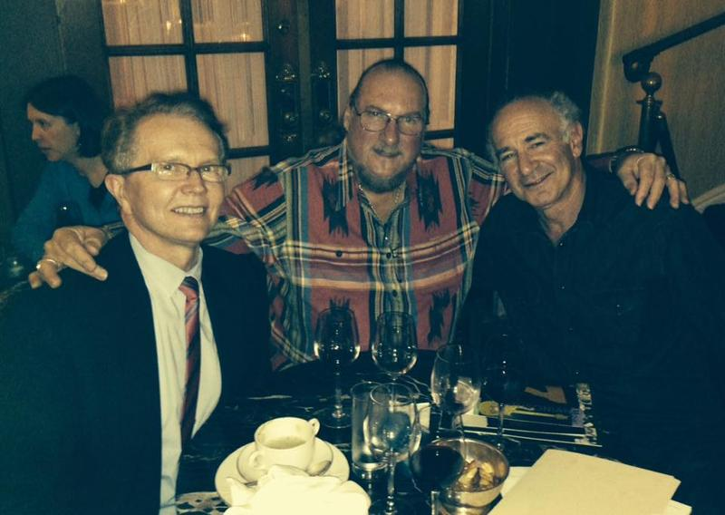 Smithsonian curator John Hasse, guitarist Steve Cropper, and Roger Kaufman.