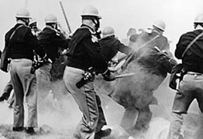 Bloody Sunday - Alabama police attack Selma-to-Montgomery Marchers, 1965.