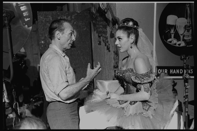 Gloria Govrin speaks with choreographer George Balanchine.