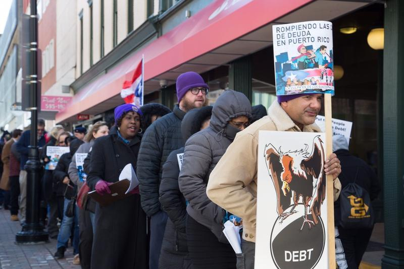 Hartford was one of the cities that saw demonstrations this week against a financial oversight board's control.