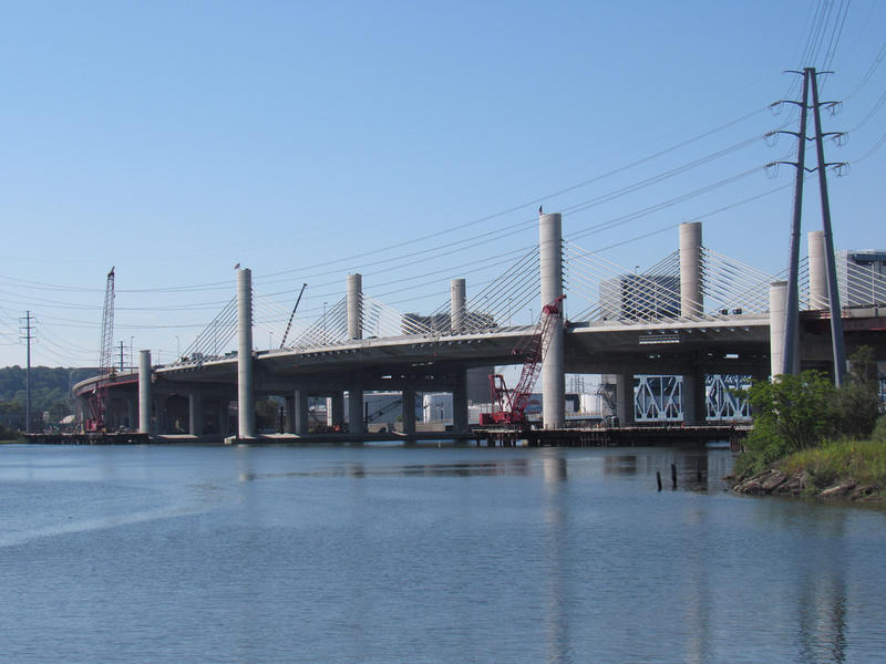 Pearl Harbor Memorial Bridge ,or Q Bridge, in New Haven.
