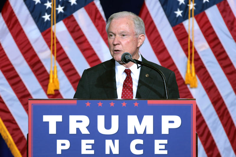 Then-Senator Jeff Sessions campaigning for Donald Trump in Arizona.