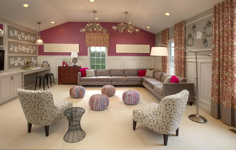 Gathering space in a multigenerational home.
