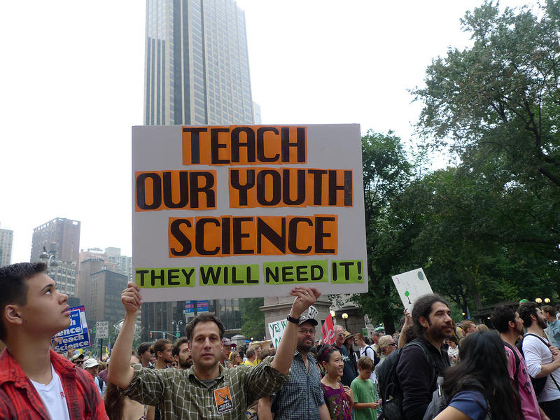 Marchers at the 2014 Peoples Climate March in New York City.