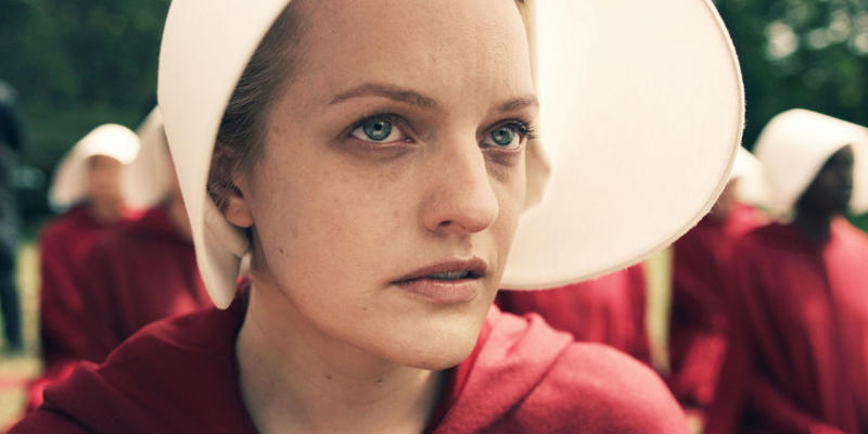 "Elisabeth Moss as Offred in ""The Handmaid's Tale"""