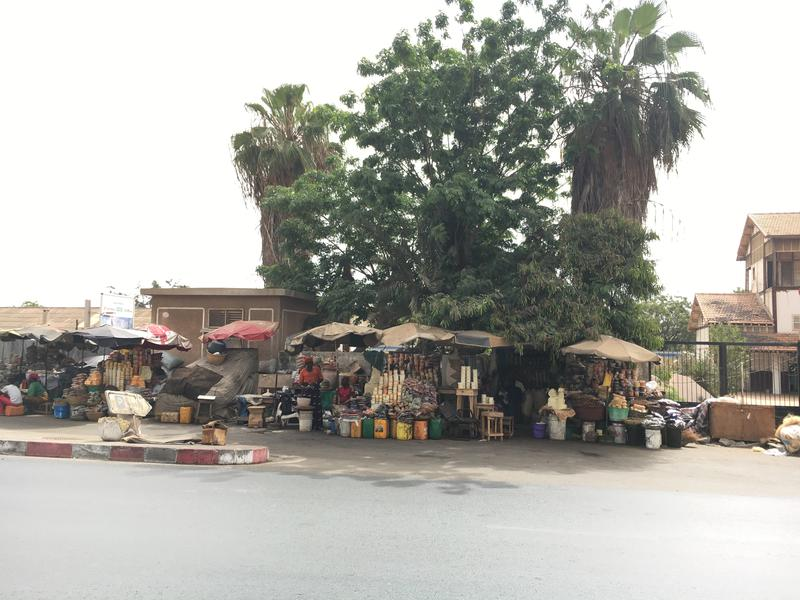 This is one of the many markets you see along the streets in Dakar, Senegal.