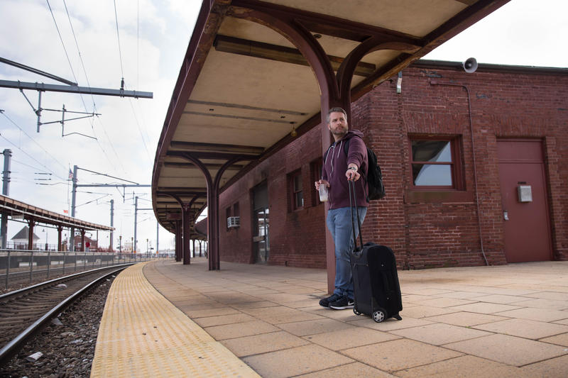 Matt Roy stands on the platform at Union Station on May 1, 2017. He thinks investment in reliable train service for the city is important.