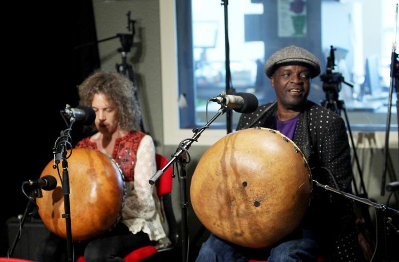 Nora Balaban - Vocalist, mbira player, and co-founder of Timbila, and Chartwell Dutiro - World-renowned vocalist, mbira player, and teacher.