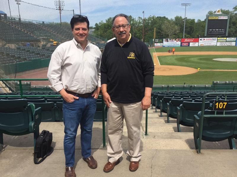 Ray Hardman with The New Britain Bee's General Manager Gerry Berthiaume