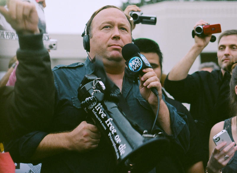 Alex Jones at an event in Dallas, Texas.