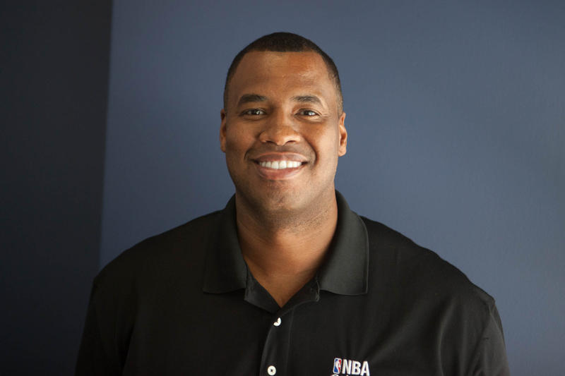 Retired NBA athlete and NBA Cares Ambassador Jason Collins