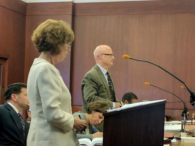 Attorneys Martha Stone and Ralph Urban, the lead attorneys from each side of the case.