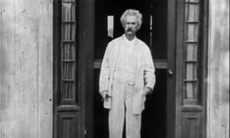 "The documentary ""America Rising: The Arts of the Gilded Age"" features the only know film footage of Mark Twain"
