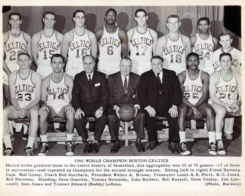 Gene Conley, pictured as No. 17 on the Boston Celtics, was one of two athletes in the four American major sports to win championships in multiple sports.