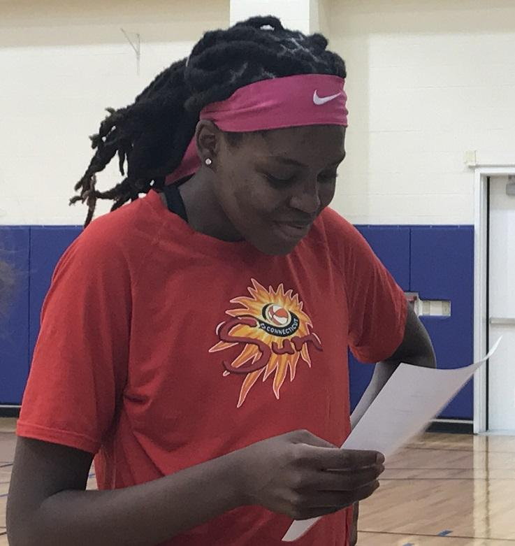 Bahamian native Jonquel Jones is one of two starters representing the Connecticut Sun in the 2017 WNBA All-Star Game.