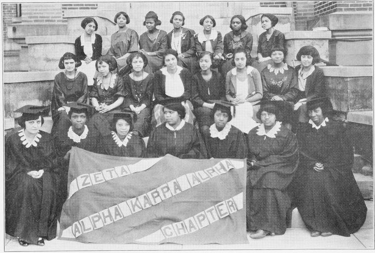 Zeta Chapter of Alpha Kappa Alpha Sorority, incorporated at Wilberforce University (Ohio), 1922