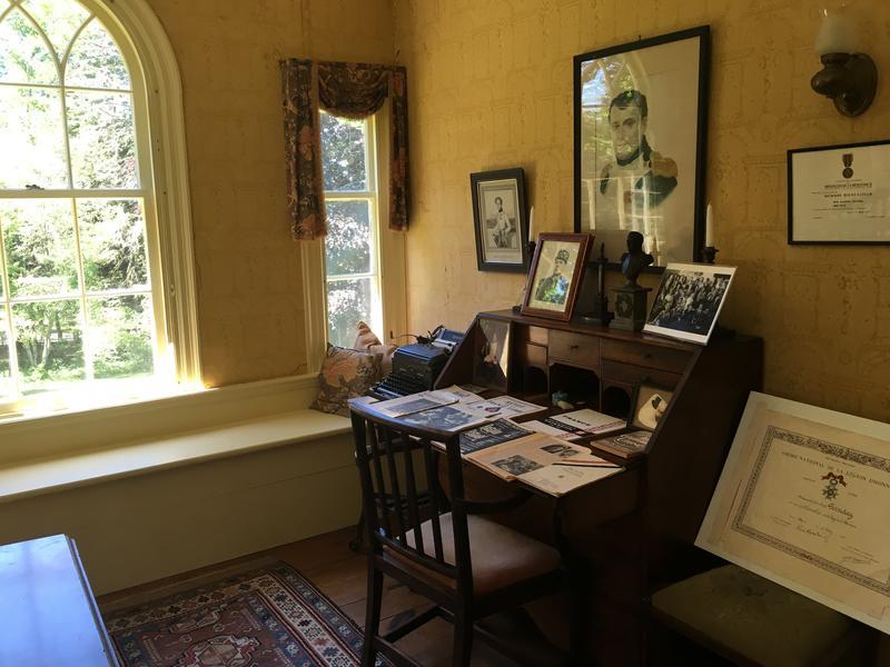 Socialite Caroline Ferriday's desk at her home in Bethlehem, CT