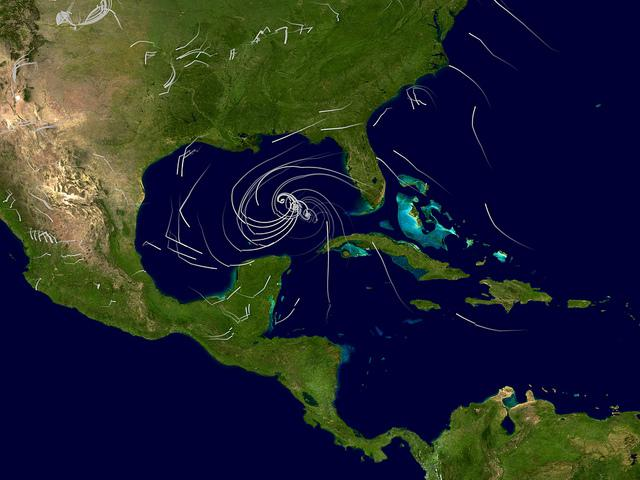 Image showing the winds of Hurricane Katrina