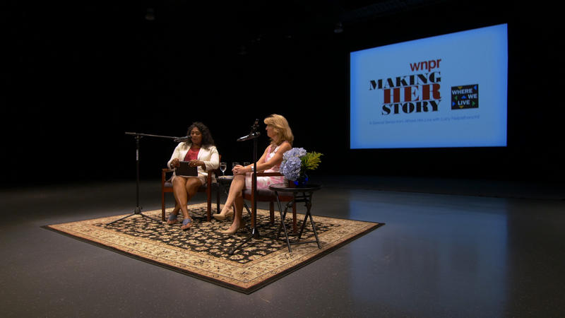 Lucy Nalpathanchil and Cindi Bigelow at the Warner Theatre
