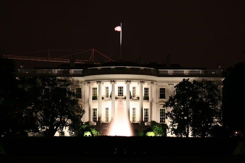 White House at night.