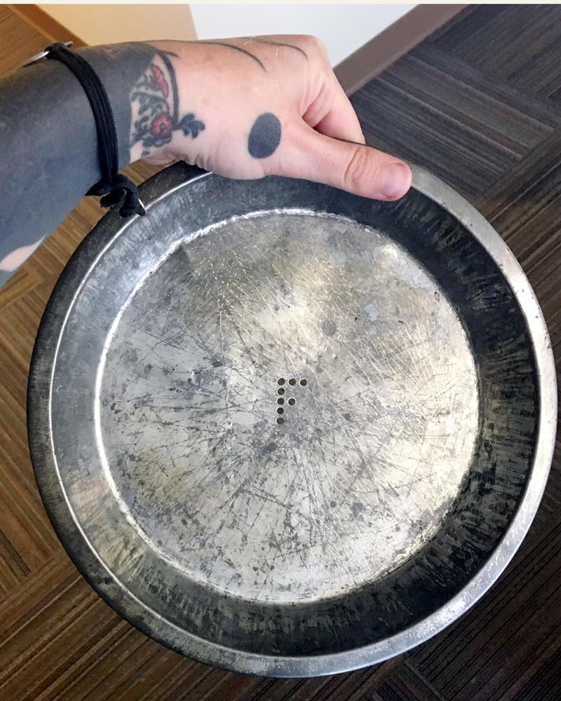 A Frisbee pie tin!