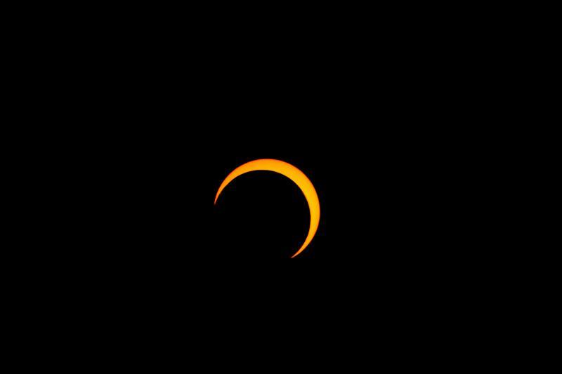 A partial solar eclipse.