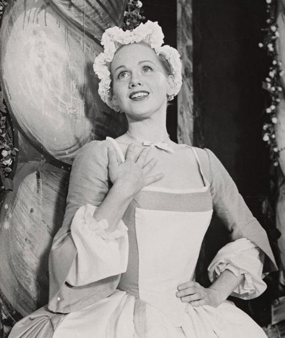 "Barbara Cook as the original Cunegonde in the 1956 production of ""Candide."""