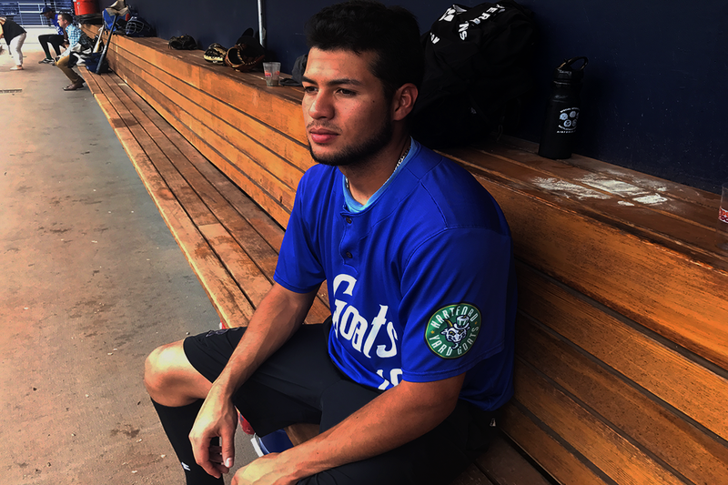 Omar Carrizales, the only member of the Hartford Yard Goats from Venezuela, has been living in America since 2013.