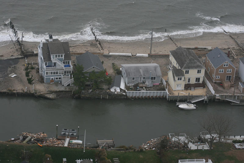 Photographs taken by the Connecticut National Guard on Tuesday, October 30, 2012, during an aerial assessment of damage caused along the Connecticut shoreline by Hurricane Sandy.