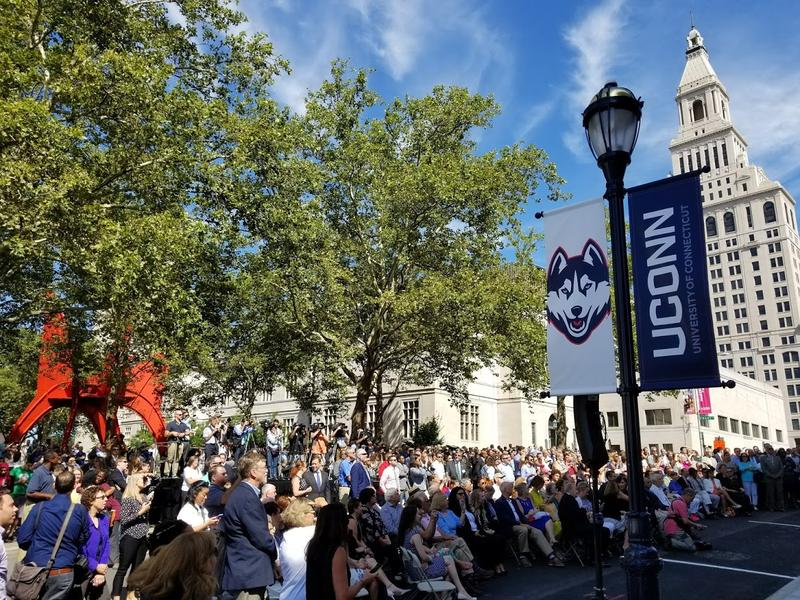 A ceremony downtown marked the opening of UConn's new Hartford satellite campus.